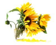 vase λουλουδιών κίτρινο Στοκ Φωτογραφία