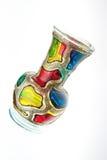 Vase. Colorful glass vase isolated on white background Stock Photography