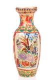 Vase. Colored empty ceramic vase over white background Royalty Free Stock Photos