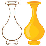 Vase. Color and contour illustration Royalty Free Stock Images