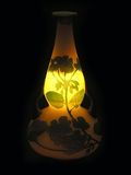 Vase. A beautiful vase illuminated with a flashlight inside it Royalty Free Stock Image