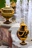 Vase. Which are included in group of fountains. Petergof. Russia Royalty Free Stock Image