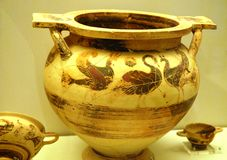 Vase of ancient Mycenae Stock Images