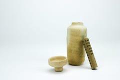 Vase antique à poterie avec le rouleau Photo libre de droits
