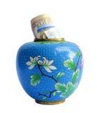 Vase antique avec l'argent liquide Image stock