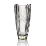 Vase antique - verre taillé - d'isolement sur le fond blanc Photo libre de droits