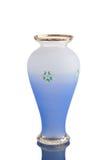 Vase antique - verre taillé - sur le fond blanc Image stock