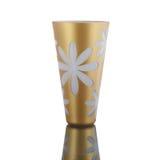 Vase antique - verre taillé - sur le fond blanc Photo libre de droits