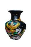 Vase art from thailand. Painting thai art on vase Royalty Free Stock Photo
