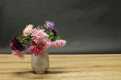 Vase with asters Royalty Free Stock Photos