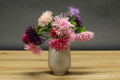 Vase with asters Stock Images