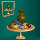 Vase auf dem Tisch Stockbild