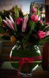 Vase av blommor Arkivbild