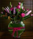 Vase av blommor Arkivfoto