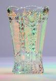 Vase av snittexponeringsglas Arkivbild