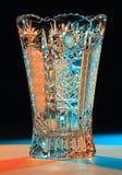 Vase av snittexponeringsglas Fotografering för Bildbyråer