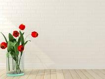 Vase avec des tulipes photo stock