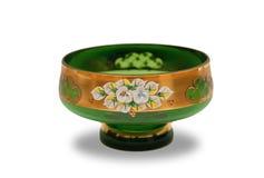 Vase avec l'ornement de fleur Images stock