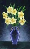 Vase avec Narcissus Flowers Photo libre de droits