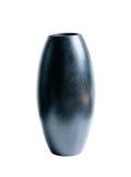 Vase of black wood isolate on white Stock Photo