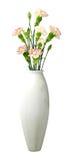 Vase blanc avec des fleurs Photos libres de droits