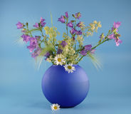 Vase with bouquet Stock Images