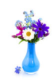 Vase with cheerful flowers Stock Photography