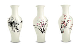 Vase. Chinese vase collection nature paiting Royalty Free Stock Photo