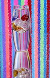 Vase of Colored Glass Pebbles  Royalty Free Stock Photo