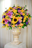 Vase of colorful flower Stock Image
