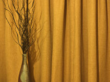 Vase and curtain Stock Photography