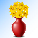 Vase with daffodil Royalty Free Stock Photos