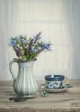 Vase de bleuets Image libre de droits