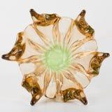Vase de luxe de verre de Bohème Vert et brun photographie stock libre de droits