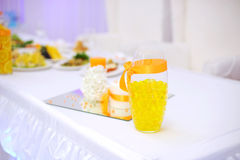 Orange Wedding Decoration Royalty Free Stock Image