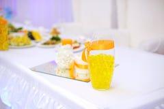 Orange Wedding Decoration Royalty Free Stock Image