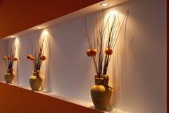 Vase decoration orange Royalty Free Stock Photography