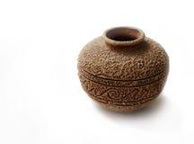 Vase en céramique à vieux type avec le suface approximatif Photo libre de droits