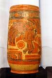 Vase en céramique maya antique photos stock