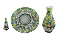 Vase en céramique Vazo de la Turquie Kutahya çini Photo stock