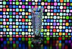 Vase en verre avec des modèles sur un vase Photographie stock libre de droits