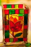 Vase en verre souillé Image libre de droits