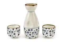 Vase et cuvettes antiques à porcelaine Photographie stock libre de droits
