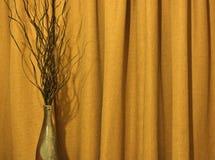 Vase et rideau photographie stock