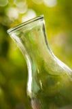 vase för glass green för bakgrundsdof grund Arkivfoton