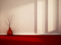 Vase on the floor, 3d Stock Photography