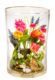 Vase with Flower Bouquet Royalty Free Stock Photos