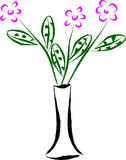 Vase and flower illustration Stock Image