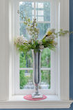 Vase of flower with window frame Royalty Free Stock Photography