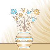 Vase with flowers Royalty Free Stock Photography